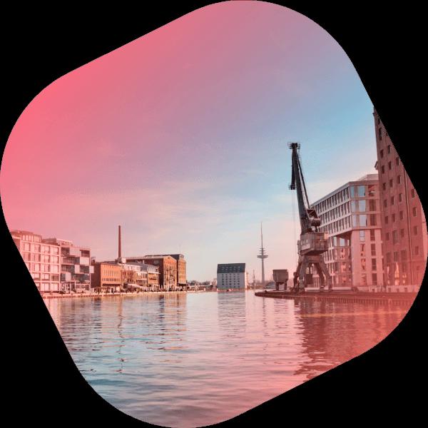 Der Hafen von Münster dem Standort von ncc guttermann